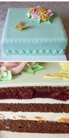 Dorty: recepty, rady, fotogalerie nápadů - Dorty, koláče, cukroví... Nature Cake, Russian Recipes, Vanilla Cake, Tiramisu, Cake Decorating, Food And Drink, Cakes, Kuchen, Cake