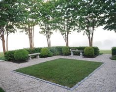 Consider, but not too taken with idea ... grass patch ... [Pea Gravel Patio Design, Pictures, Remodel, Decor and Ideas - page 47]