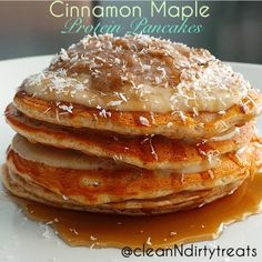 Cinnamon Maple Protein Pancakes