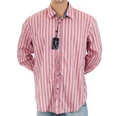 Hugo Boss #StripedShirt New #RonnySlimFit XXL Dress Casual #FlipCuff #MensShirt 2XL #HUGOBOSS #ButtonFront
