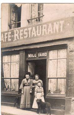 cpa photo d'un café restaurant à courbevoie ? | eBay