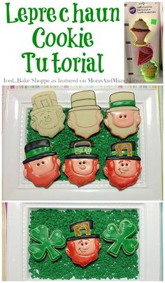 St. Patrick's Day Cookies - Leprechaun Cookie Tutorial