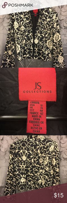 Blazer Silk blazer.One missing bottom. JS Collections Jackets & Coats Blazers