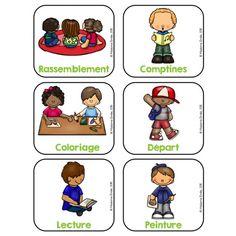 Menu du jour Maternelle Play School Activities, Classroom Activities, Classroom Ideas, School Organisation, Classroom Organization, Robot Theme, Educational Robots, Kindergarten, Trouble