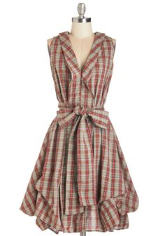 Plaid Your Own Touch Dress