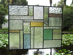 Patchwork Quilt Stained Glass Panel Window Treatment by ArtfulFolk, $99.95