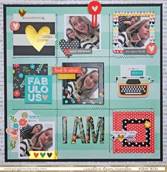 My Happy Place: Paper Issues: Simple Stories I AM Simply Me! Layout by Kathy Skou.