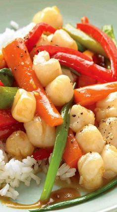 bay scallop stir fry bay scallop stir fry used mushrooms carrots and ...
