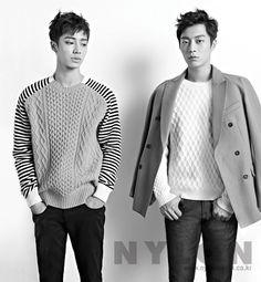 Doo Joon and Gi Kwang - Nylon Magazine December Issue Korean K Pop, Korean Wave, Korean Star, Korean Music, Korean Men, Asian Men, Korean Boy Bands, South Korean Boy Band, Yoon Doo Joon