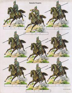 Soldatini di carta j.f.s.i.e. no 1343 Deutsche Dragoner ca.1905 | Arte y antigüedades, Objetos antiguos y juguetes, Juguetes antiguos | eBay!