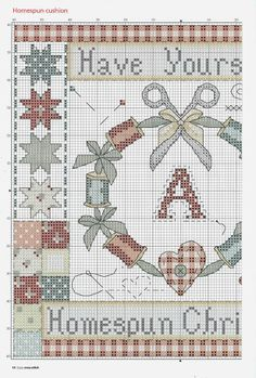 Cross-stitch Homespun Christmas, part 1.. color chart on part 2...    10 - galbut - Álbumes web de Picasa