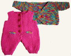 Foto af slå-om-sæt til BabyBorn Knitting Dolls Clothes, Knitted Dolls, Doll Dress Patterns, Clothing Patterns, Baby Barn, Doll Crafts, Babydoll Dress, Baby Dress, Crochet Baby