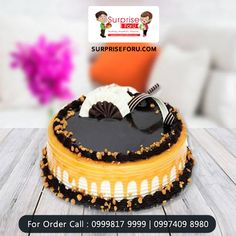 Send a mouthwatering #cake to delight your near and dear ones on any day or occasion. To order cake online, simply visit #SurpriseForU. 10% OFF Code: SFU10 #MidnightDelivery #Ahmedabad
