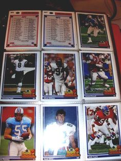 "NFL Football Cards ""Rookie Force "" of 1991 Series by Upper Deck AFC/NFC 49 Cards"