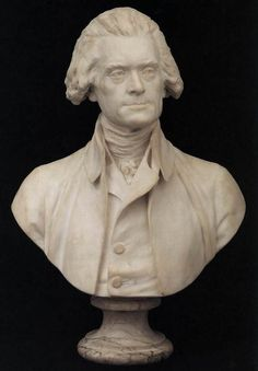 Bust of Thomas Jefferson - Jean-Antoine Houdon. right next to my hadrian bust