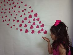 Valentines day preschool card flowing hearts craft