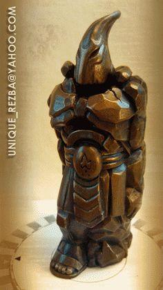 Шахматы для Елены (Чёрные) | Резьба по дереву, кости и камню