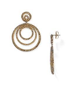 Roni Blanshay Swarovski Crystal Circle Drop Earrings | Bloomingdale's