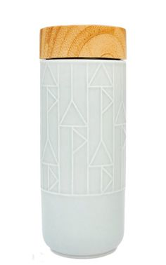Geo Porcelain Travel Mug | Leif