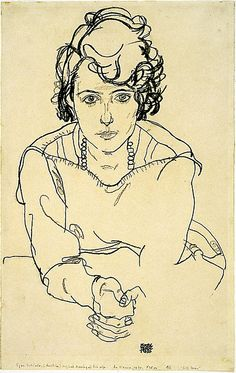 Egon #Schiele.....Sometimes you must wish, think and DREAM hard enough for the magical creature to appear as some form of real.....