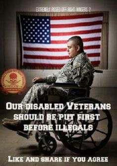 ALL veterans and active military should be first. Illegals need to be sent to wherever they came from until they learn how our laws work!