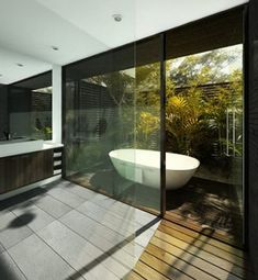 We all know Amazing Home design is really suitable for our Home. You can learn from our article (Beautiful Bathroom Designs With Bathtubs Decor Which Show A View Of Nature) and get some ideas for your Home design. Modern Bathroom Design, Bathroom Interior Design, Modern House Design, Bathroom Designs, Bathroom Ideas, Bathtub Ideas, Bathroom Storage, Modern Bathtub, Bathroom Remodeling