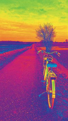 Because grey and brown sometimes are boring. #bike #cykel #cykeltur #colours