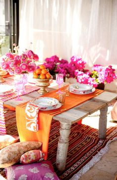 Summery laid table.