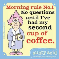 morning rule no.1☺