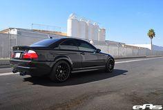 Black e46 M3 w/ Matte Black OEM CSL Wheels 4 by european auto source, via Flickr