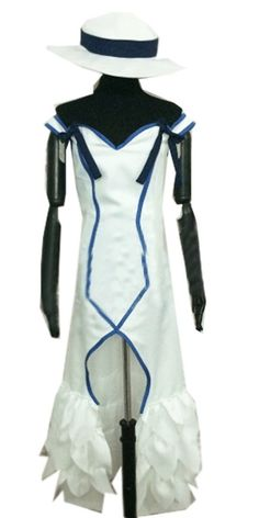 Onecos anime Black Bullet White Dress Cosplay Costume-made -- Details can be found by clicking on the image.