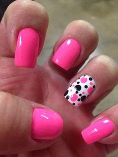Pretty pink dots