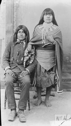 Mojave couple - 1880