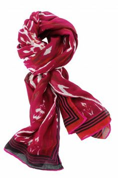 Stella & Dot Palm Springs Scarf - Red Ikat - repin for a chance to win http://www.stelladot.com/denikaclay