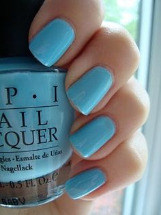 OPI Pearl Of Wisdom - Wedding toes!! For my something blue