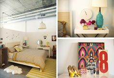 yellow rug and lamp