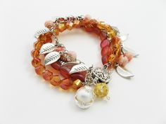 mayflowers #bracelet with @michelle mach made with #BeadGallery available at @Michaels Stores #PrettyPalettes