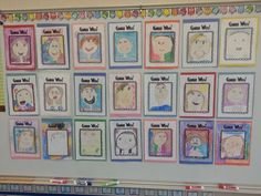 Guess Who? Cute bulletin board for open house.  (Would also have my students write clues about likes, dislikes, etc.)