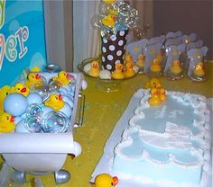 Rubber Ducky Baby Shower | CatchMyParty.com