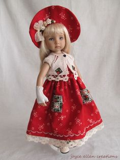 "13"" Dianna Effner Little Darling Fashion Cherry red set OOAK handmade by JEC #Unbranded"