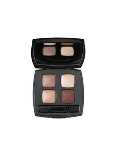 CHANEL LES 4 OMBRES QUADRA EYE SHADOW IN RAFINEMENT The shadows' texture is luxurious, the pigments are rich, and the subtle sheen is incredibly flattering. With rose-gold accents, the colors have just enough warmth to subtly highlight the lids.