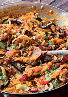 Roasted Vegetable Paella Recipe