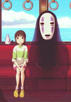Hayao Miyazaki ■Spirited Away●Studio Ghibli, Japan● (スタジオジブリ) Art Studio Ghibli, Studio Ghibli Films, Hayao Miyazaki, Anime Manga, Anime Art, Chihiro Y Haku, Film D'animation, Howls Moving Castle, My Neighbor Totoro