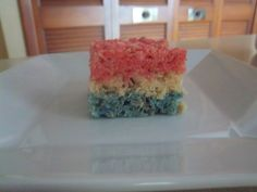 Red White and Blue Rice Krispie Treats
