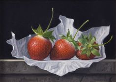 James Aponovich - Three Strawberries