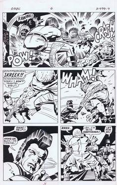 Kirby OMAC SOLD Comic Art