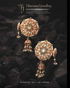 Tibrumal #earrings #kundan #polki #indian #desi #gold #rubies #traditional…