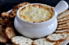 Hot + Cheesy Roasted Red Pepper Dip.