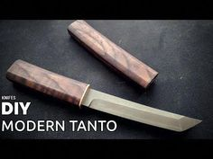 Handmade modern tanto knife from carbon steel, with composite wooden handle and sheath. There I try to explain all steps involved in video of making this kni. Opinel Custom, Knife Making Tools, Trench Knife, Hobbies For Men, Metal Welding, Hard Metal, Handmade Knives, Knife Sharpening, Tactical Knives