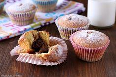 Soffici e profumati, i muffin con cuore alla nutella sono una vera delizia!